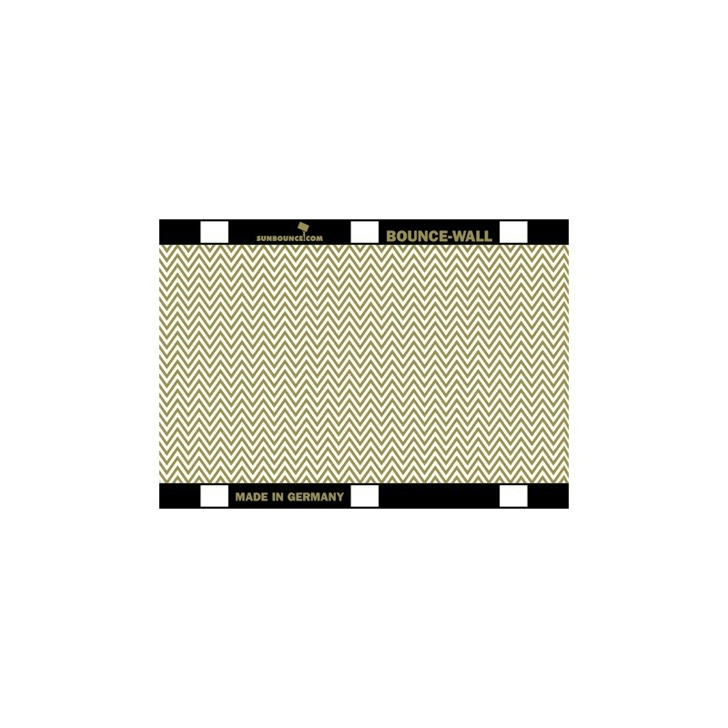 Sunbounce Bounce-Wall Reflector Zig-Zag Gold/ White