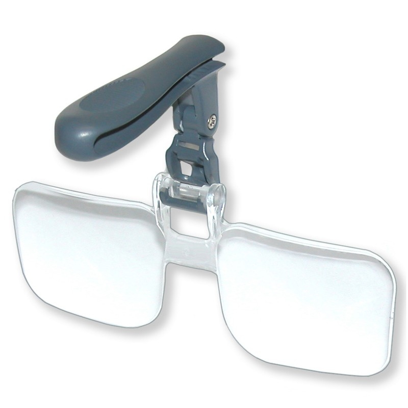 Green Clean Clip & Flip The hands free magnifier
