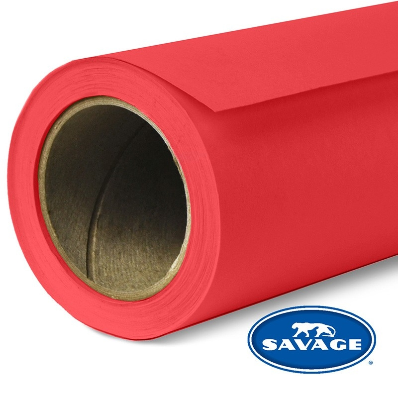 Savage Primary Red Widetone Seamless Background Paper